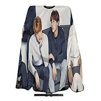 Kpop B-T-S Barber Cape Waterproof Haircut Apron With Adjustable Salon Polyester Hair Cutting Cape For Cutting Hair Beard Hairdressing For Men Women Kids 55  x 66