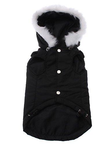 Chien Pulls à capuche Noir Vêtements pour Chien Hiver Couleur Pleine , s