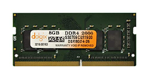 DOLGIX 8GB DDR4 PC4-21300 2666MHz Laptop 260Pins 1.2V Memory Ram Module Upgrade