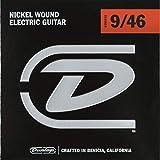 Cordes pour guitare électrique Dunlop DEN0946 9S Light / Heavy 9-46 Nickel