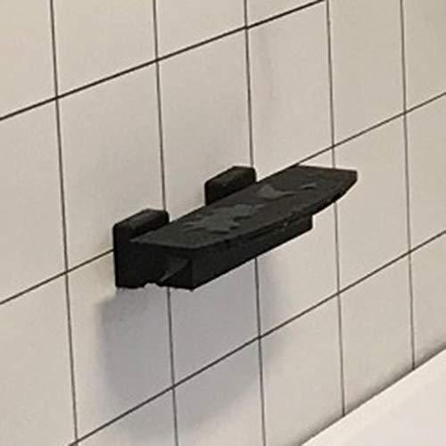Baño Ducha grifos de la bañera cascada grifo de la ducha Negro/Blanco/oro/cromo oculto montado en la pared Mezclador de hidromasaje Tap, Negro