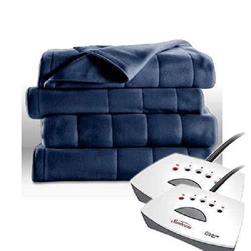 Sunbeam Electric Heated Fleece Blanket (Queen, Newport Blue)