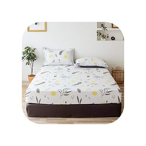 Star Harbor Bettgarnitur |2020 1 Stück Baumwolldruck Bettmatratze Set mit Vier Ecken und elastischen Bandblättern-chunfenghuayubai-180X200X25cm