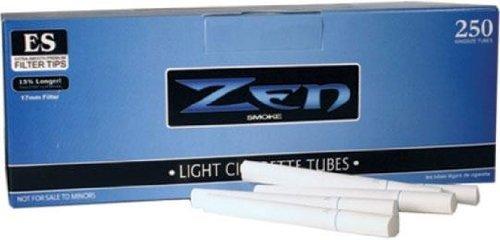 5 Box Bundle - Zen Light King Size Cigarette Tubes (250 Ct Each) by Zen