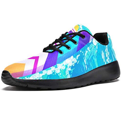 Zapatillas deportivas para correr para mujer de color acuarela, de moda, de malla, transpirables, para caminar, senderismo, tenis, color, talla 38.5 EU