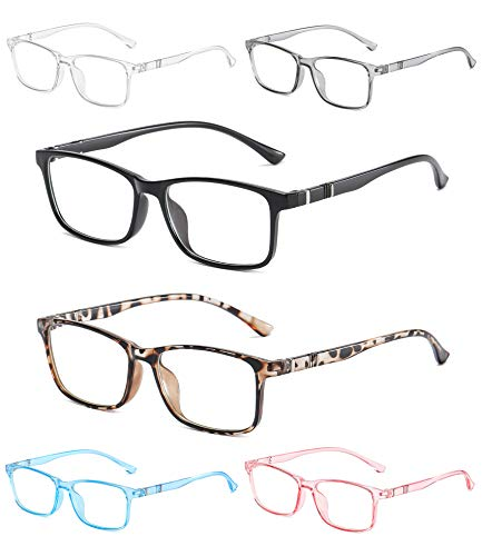 NOVIVON 6-Pack Reading Glasses Blue Light Blocking for Women Men, Lightweight Computer Readers Anti...