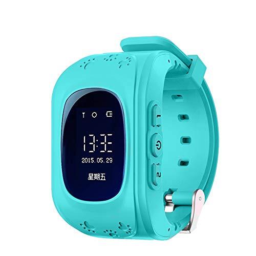 Smartwatch telefoon met GPS fitnesstracker voor kinderen jongens meisjes kinderen met SIM oproepen SOS-armband polshorloge, blauw