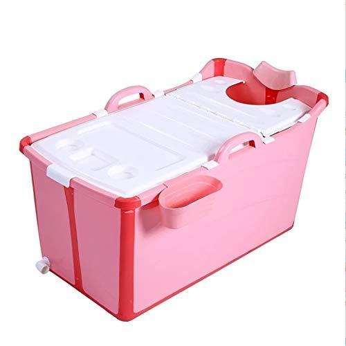 Badkuip, mobiel badkuip, antislip, voor baby's, mobiele badkuip, antislip, badkuip, opvouwbaar, voor kinderen, lange isolatietijd met afdekking, 50 x 91 x 44 cm, opvouwbaar