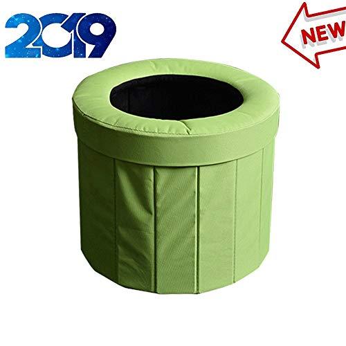 TERMALY Toilette Pliante extérieure, urinoir Portable pour Voiture, Mini Toilette d'Urgence pour Adulte, urinoir pour Sac à Urine Mobile, hygiène de Camping et de randonnée pédestre, pesant 60 kg