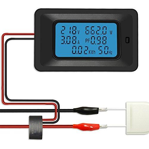 KKmoon Misuratore di Tensione Digitale 100A Misuratore di Energia LCD 5KW Fattore di Potenza Misuratori di Frequenza di Energia Voltmetro Amperometro Amperometri Watt Meter Tester Indicatore