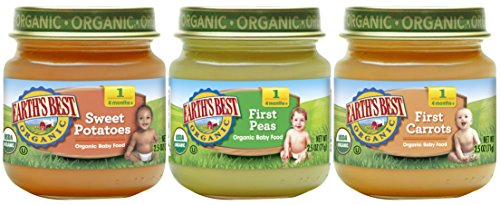 Earth's Best Organic Stage 1 Baby Food, My First Veggies Variety Pack, 2.5 oz. Jar (12 Count)