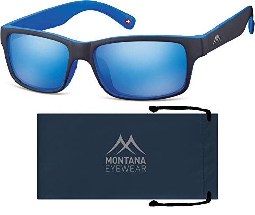 Montana MS27, gafas de sol Unisex Adulto, Multicoloured (Black Revo Blue), Talla única