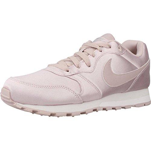 Nike MD Runner 2, Zapatillas de Running Mujer, Gris (Particle Rose/Particle Rose-Metallic Silver 602), 36.5 EU