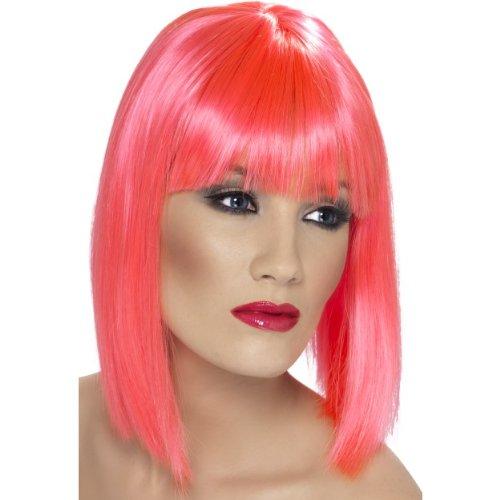 Glam Perücke, Neon Pink