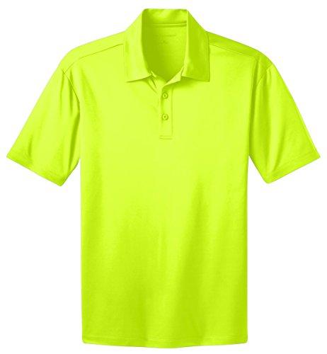Camisa polo masculina Port Authority com toque de seda _ amarelo neon_3GG alta