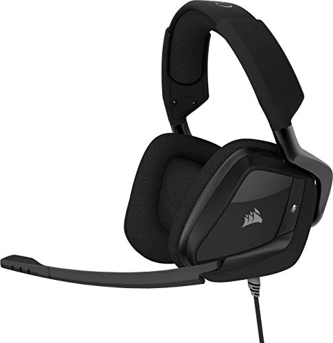 Corsair Void Pro Surround Auriculares para Juegos, 7.1 Sonido Envolvente, Micrófono Omnidireccional, Compatible con PC, PS4, Xbox One y Móviles, Color Negro