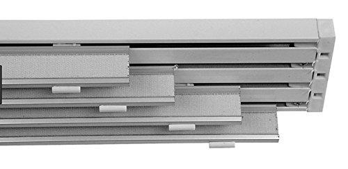 Rieles de Aluminio Profesional para Panel japonés manuales 4 vías Ancho 240 cm carriles de Rodadura con velcron de 64 cm