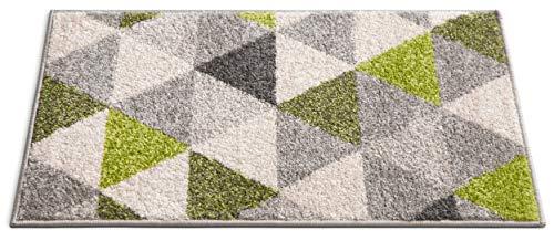 HOMEWAY Pattern Rugs - Triangle Modern Area Rug Green 20'' x 31'' Doormat Bath Mat Carpet