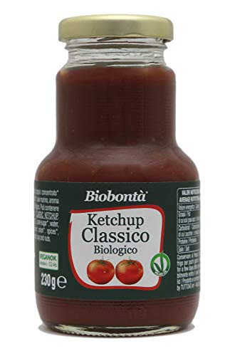 Ketchup Classico bio, artigianale e italiano, vegano, senza glutine, senza lattosio - (230 g)