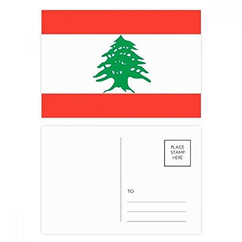 DIYthinker Libanon NationalFlaggege Asien Land Postkartenset Geburtstag dankt Karte Mailing Side 20pcs 5.7 Zoll x 3.8 Zoll Mehrfarbig