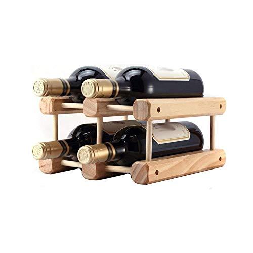 RENSLAT De Vino de Madera del hogar del Estante del sostenedor del Vino Monte la Botella de Vino de Almacenamiento de Madera Estante de la Barra Estante de exhibición