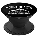 MOUNT SHASTA CALIFORNIA Climbing Summit Club Outdoor Gift PopSockets Grip and Stand for Phones and Tablets