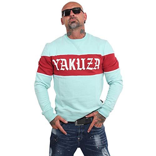 Yakuza Herren Retro Stripe Pullover Sweater