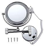CZYNB Mirror 10x / 1x Maquillaje de ampliación con la Pared LED montada en la Pared de Doble Cara de 8.5 Pulgadas 360O...