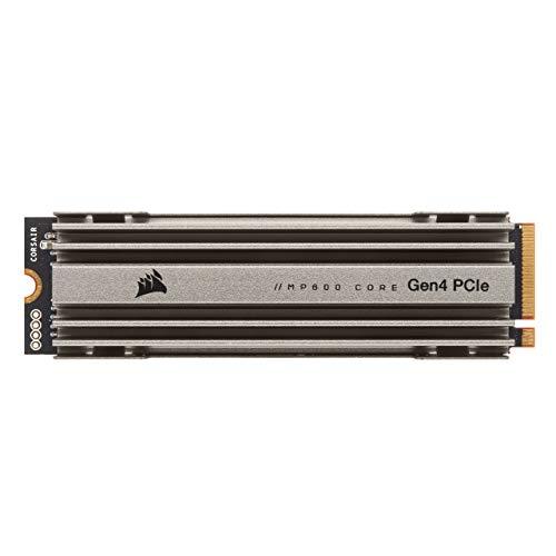 Corsair Mp600 Core 1 Tb M.2 Nvme Pcie X4 Gen4 Ssd, Hasta 4.700 Mb/S Velocidad De Lectura Secuencial Y De Escritura Secuencial 1.950 Mb/S, Interfaz Alta Velocidad, 3D Qlc Nand, Aluminio