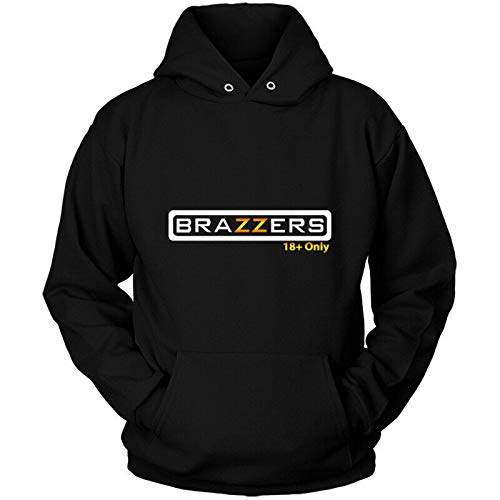 Brazzer Funny Graphic Hoodie Printed Pullover Hoodies Sweatshirts Hooded with Drawstring Pockets Black XL