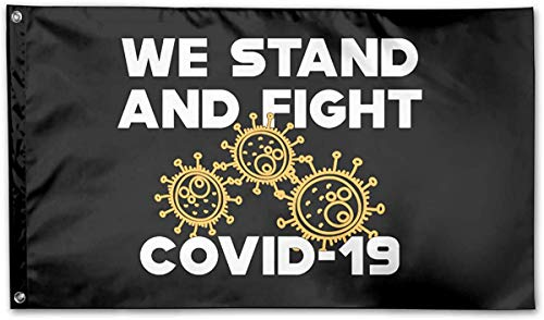 Star Heaven American Flag by U.S. Veterans Owned COVID - 19 We Stand and Fight Novel Coron-avirus Flag 3x5 Ft