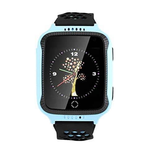 ibasenice Reloj Inteligente para Niños con Llamada de Voz Reloj Inteligente Localizador GPS Reloj SOS Reloj de Pantalla Táctil a Prueba de Agua para Niños Niños Y Niñas Azul