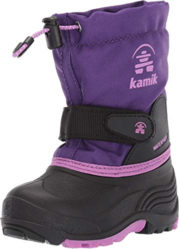 Kamik Child Waterbug Wide Winter Boots Purple Print 13