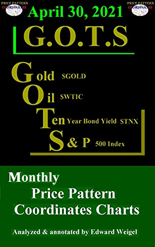 April 30, 2021: G.O.T.S : Gold ($GOLD), Oil ($WTIC), 10-Year Treasury Bond ($TNX) and the S&P 500 Index ($SPX) Monthly Price Pattern Coordinates Charts (English Edition)