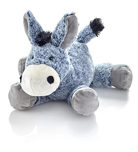 Unbekannt Plüschtier Esel Plüsch Blau Stofftier Kuscheltier Plüschesel liegend Stofftier Kuscheltier Plüschtier 20 cm klein für Babys und Kinder