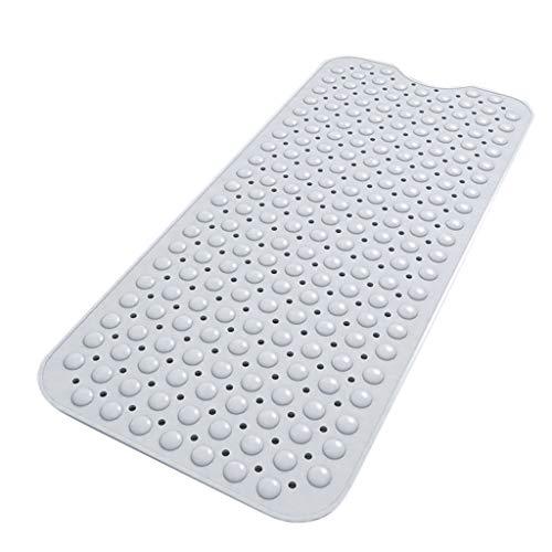 TIREOW Weihnachten Bad Duschmatte, Starke Große Anti Rutsch Saug PVC Fußmassage Teppich Waschbar Voller Schlafzimmer Türmatte Fußmatte Badematte 100 cm x B 40 cm (Weiß)