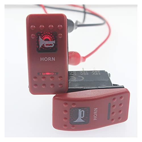 FENGFENG Sun Can IP68 Impermeable 2 4V / 10A, 12V / 20A Fuera DE Carretera Coche Bus Marine Push Button Rocker Toggle Rojo Caja Roja DIRIGIÓ Interruptor de bocina