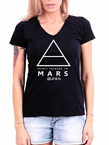 30 Seconds to Mars Damen T-Shirt Schwarz Schwarz  Gr. XL, Schwarz