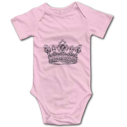 Yuanmeiju Crown Baby Jumpsuit Cotton Traje de rastreo de bebé Short Sleeve Bodysuit