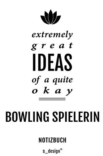 Notizbuch für Bowling Spieler / Bowling Spielerin: Originelle Geschenk-Idee [120 Seiten gepunktet Punkte-Raster blanko Papier]