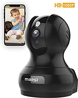 [2015 New Model] Network IP Camera MAISI Indoor Wireless Day Night Pan/Tilt Baby Monitor / Surveillance Network IP Camera and MORE (HD 1280x720p Mega-Pixels Two Way Talk Built-in Mic & Speaker QR Code Scan & Connect iPhone & Android Mobile View Motion Detection & Push Notification Enhanced Wi-Fi 3dB Antenna Black) [Importado de UK]
