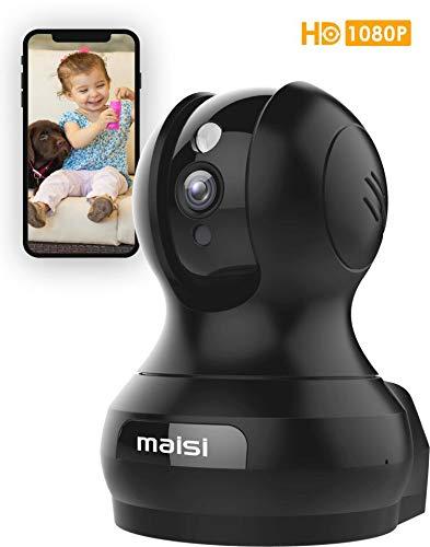 MAISI UPGRADED HD 1MP Wireless IP Sicherheitskamera mit 3dB VERBESSERTE WiFi, Baby Tier Monitor - Smart Setup in Minuten, Bewegungserkennungsaufnahme, Mobile Push Benachrichtigung und mehr