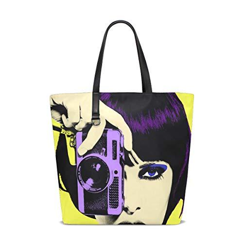 FANTAZIO Schultertasche für Damen, Pop-Art