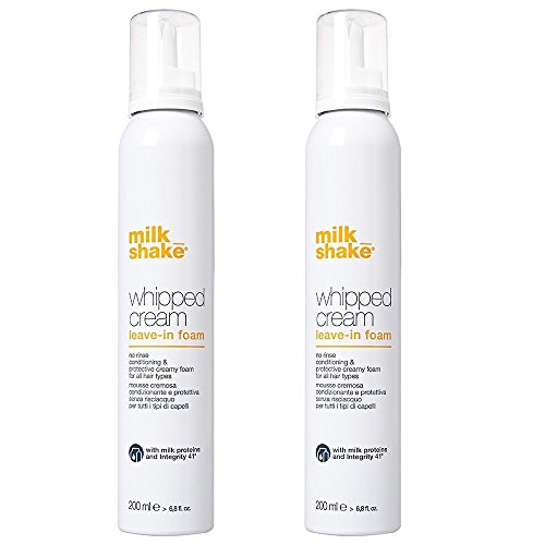 Milk shake whipped cream leave in foam DUO PACK 2 x 200 ml Mousse cremosa condizionante e protettiva per tutti i tipi di capelli 400ml PROMOZIONE SPEDIZIONE GRATUITA