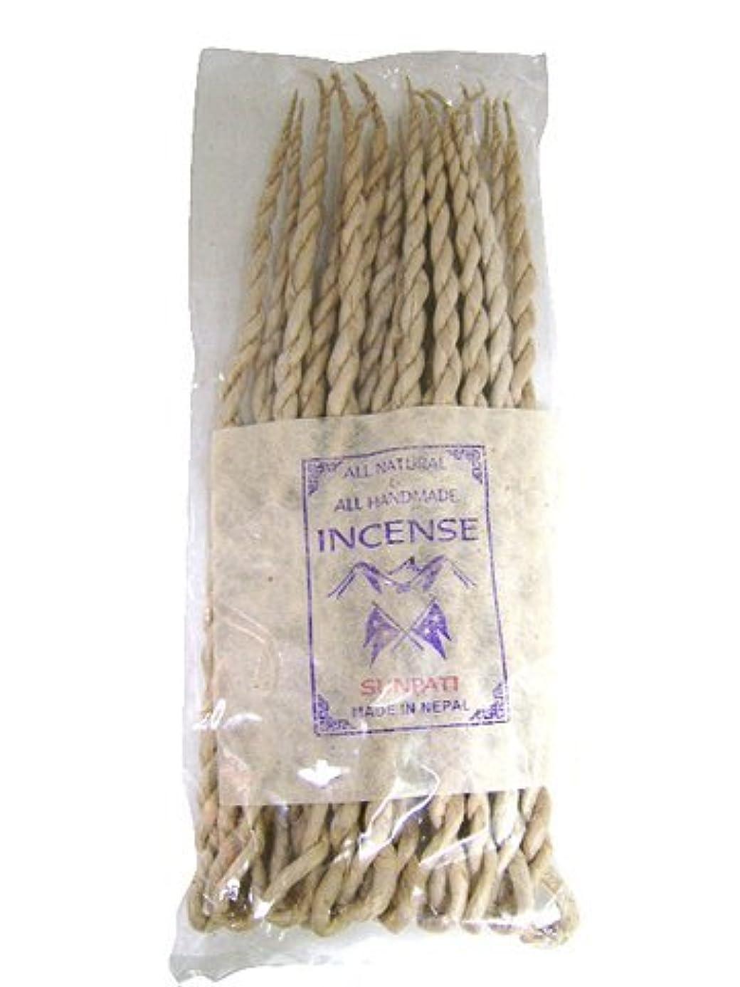 怒って章すみませんNEPAL INCENSE 日本では当店でのみ販売 ネパールの高級ねじり香(ロープ) サンパティ