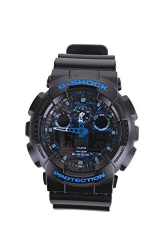Casio G-Shock GA110CB-1A Blue Color Theme Stylish Watch - Black/Blue / One Size
