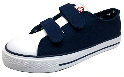 MURPHY&NYE Sneakers, Scarpe Unisex Tela MOD. S17-AMN035 Velcro Blu 31/38 (37)
