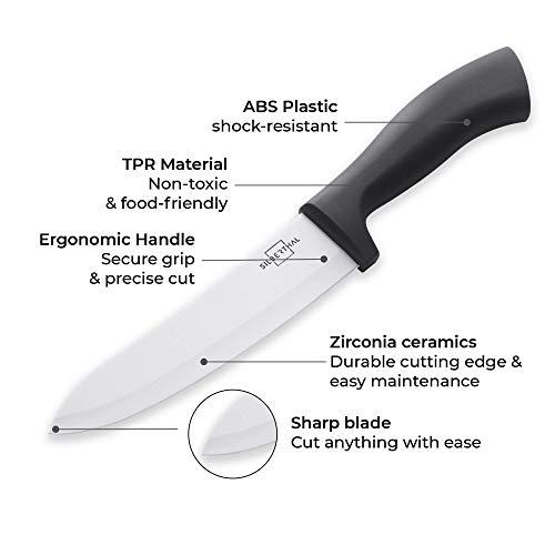 Silberthal Keramikmesser Set weiß – 4-teiliges Messerset - 3