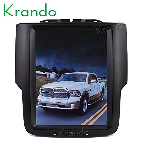 Autoradio Krando Android 6.0 10.4 inch Tesla Vertical Screen Audio voor Dodge Ram 1500 2014-2018 GPS-navigatie (1 + 32G)