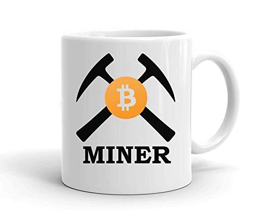 IDcommerce Bitcoin Miner Tasse en Céramique Blanche pour Le Thé Et Le Café